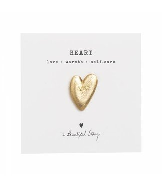 A BEAUTIFUL STORY •• Broche Heart Gold