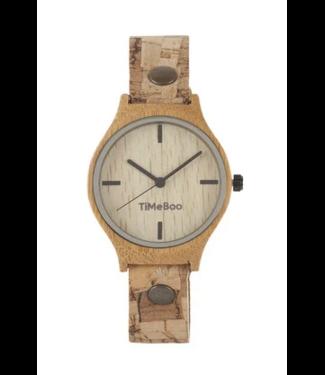 TimeBoo •• Bamboe Horloge Vegan Single Kurk Blok