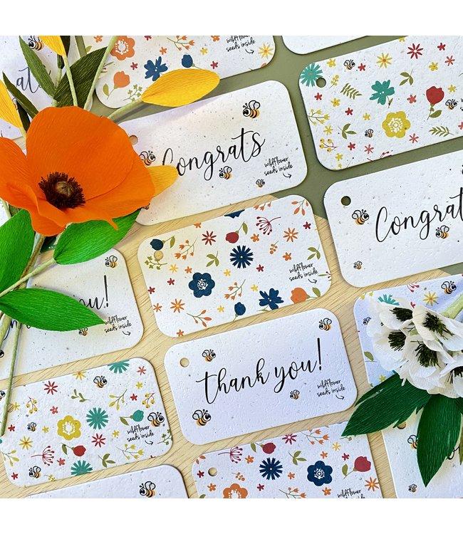 Bloom •• Cadeaukaartje Plantbaar in 4 designs