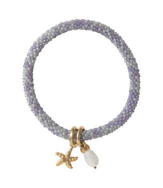 A BEAUTIFUL STORY •• Armband Jacky multi color Maansteen Goud