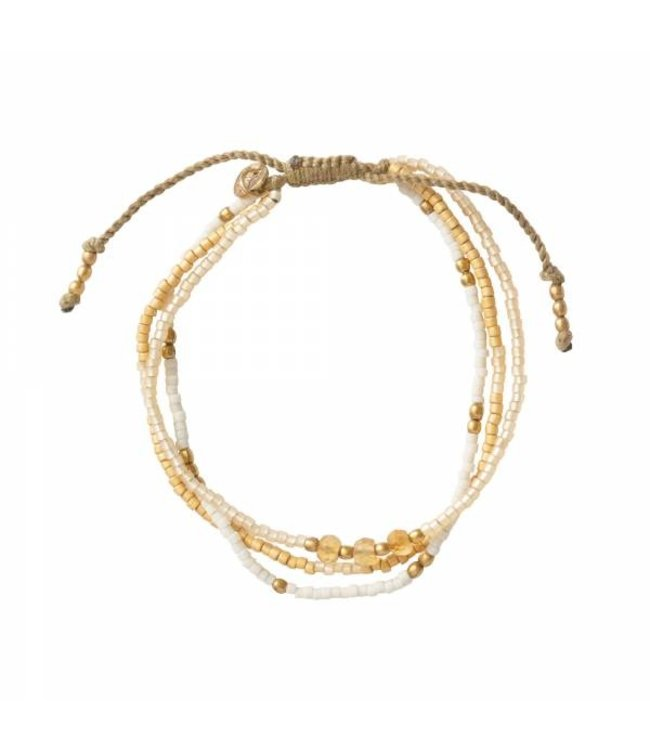 A BEAUTIFUL STORY •• Armband Gentle Citrien goud