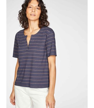 THOUGHT  •• Cecilia Striped Jersey T-Shirt