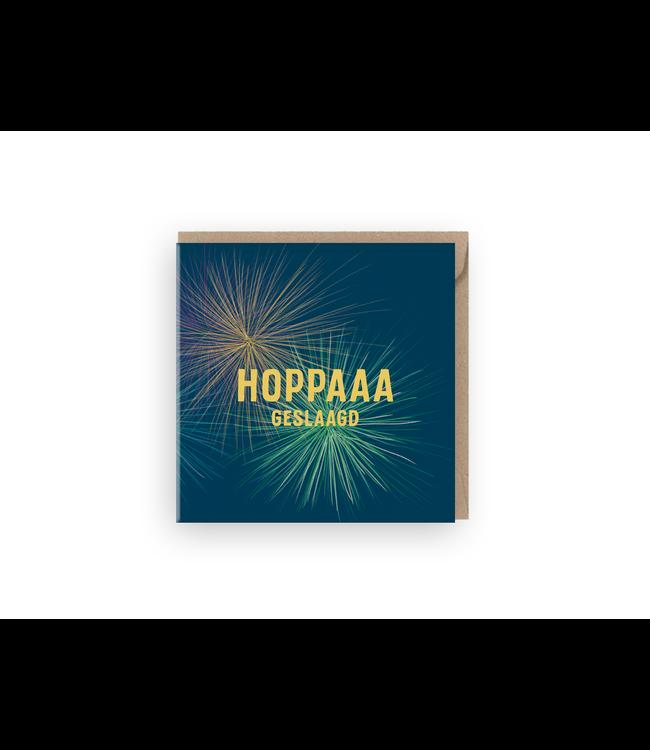 GRAFIQUELIEN •• Wenskaart ''Hoppaaa Geslaagd''