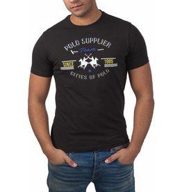 La Martina La Martina ® T-Shirt Schwarz, Polo Supplier