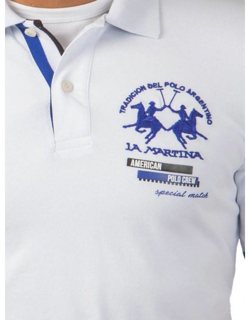 La Martina ® Poloshirt Polo Crew, Weiß