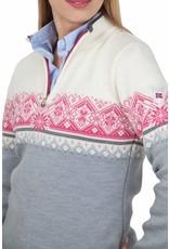 Dale of Norway ® St.Moritz Damen Pullover, Grau/Weiß