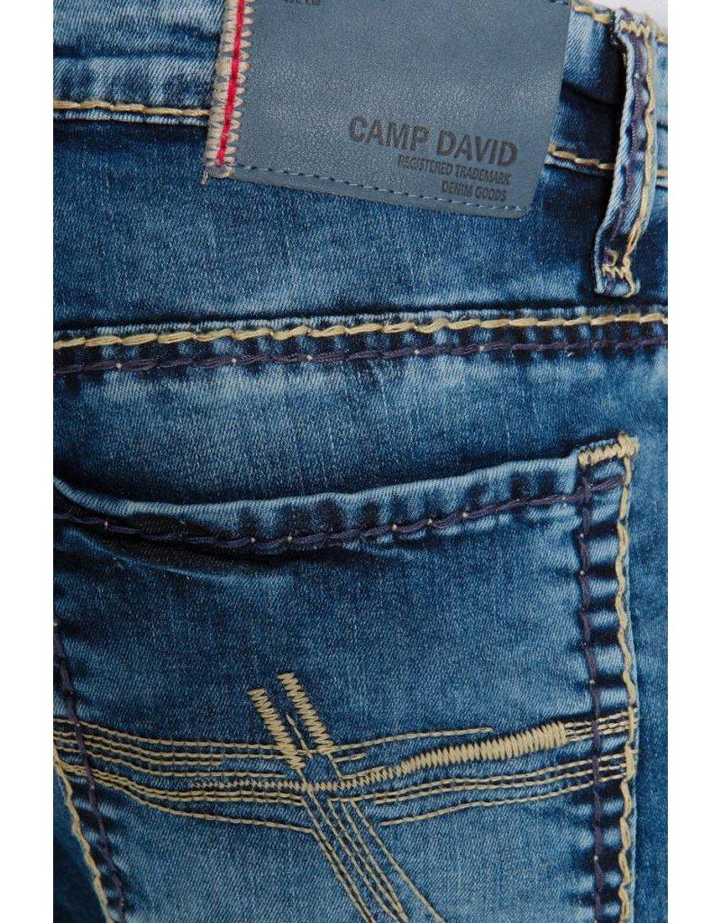 Camp David ® Blue Used Denim Mit Breiten Nähten