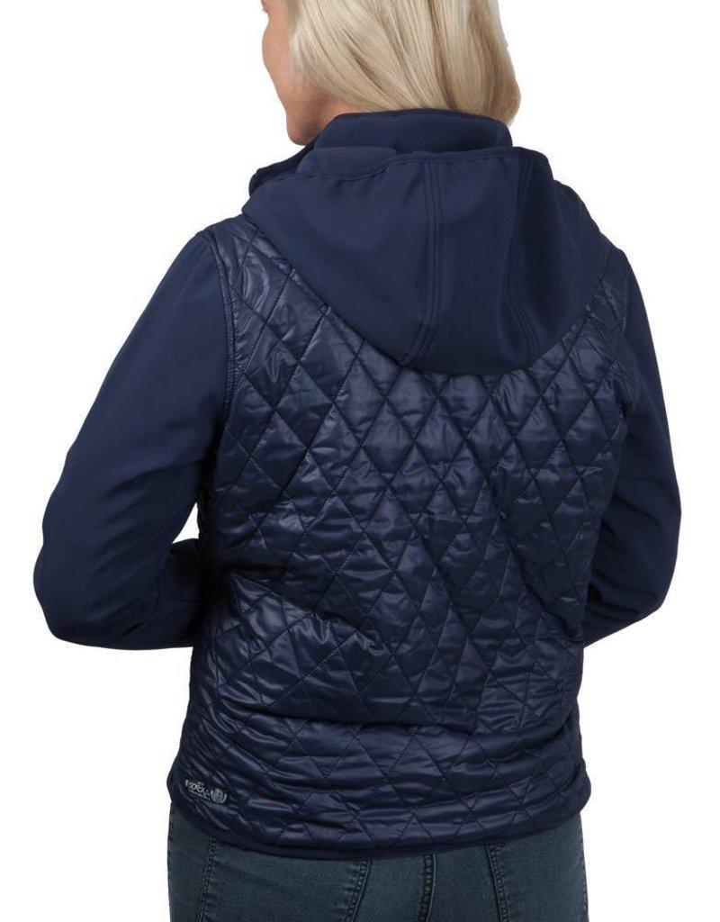 Soccx ® Gefütterte Jacke mit Kapuze, Dunkelblau