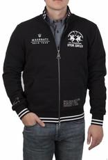 La Martina ® Sweatshirt Strickjacke Maserati Polo Tour, Schwarz
