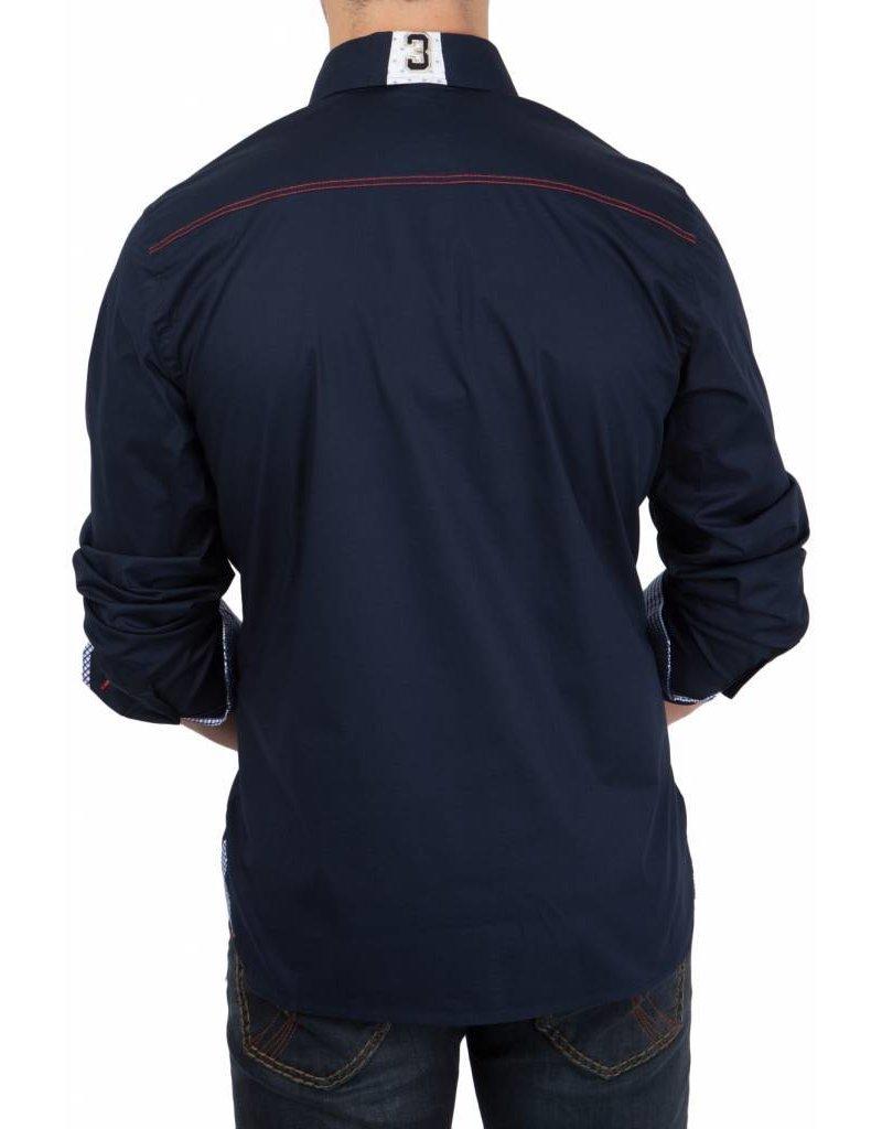 van Santen & van Santen ® Hemd  Polomasters, Dunkelblau