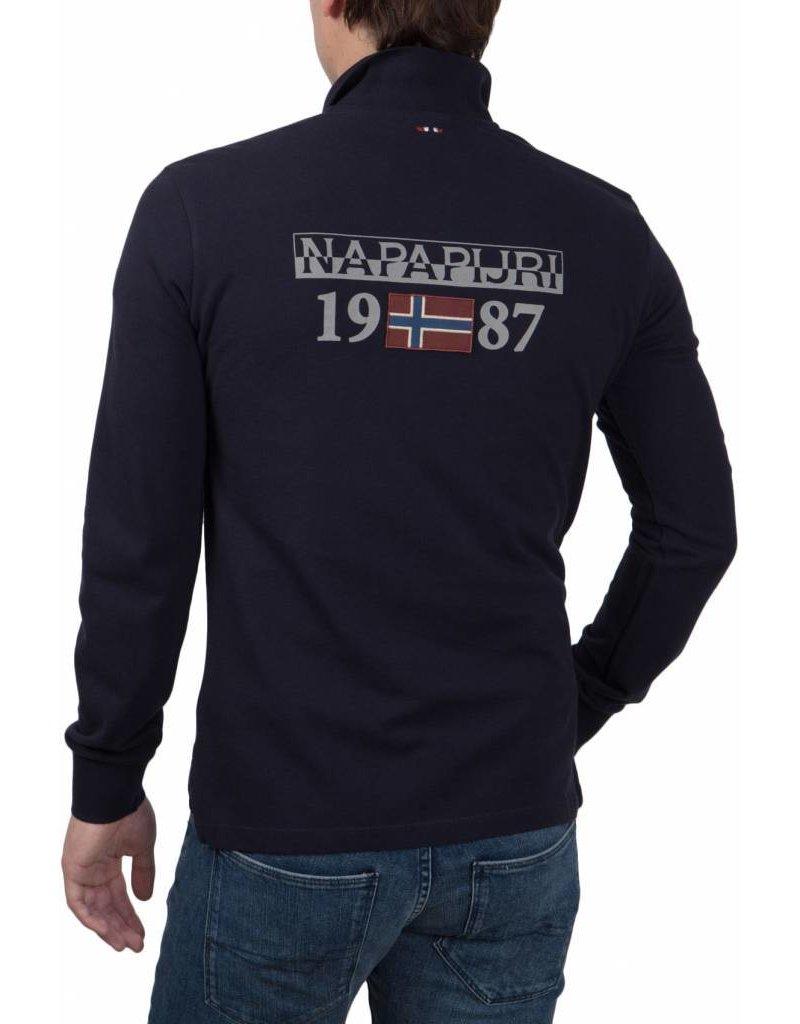 Napapijri ® Poloshirt l/s Logo, Dunkelblau