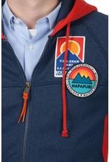 Napapijri ® Hoodie Sweat Strickjacke Badges, Dunkelblau