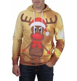 Rudy Land Rudy Land Weihnachtspullover Hoodie Yellow Star