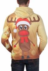 Rudy Land Weihnachtspullover Hoodie Yellow Star