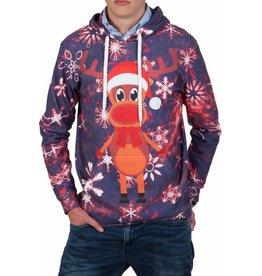 Rudy Land Rudy Land Weihnachtspullover Hoodie Blue Snow