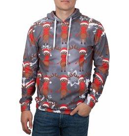 Rudy Land Rudy Land Weihnachtspullover Hoodie Multi Grey