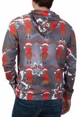 Rudy Land Weihnachtspullover Hoodie Multi Grey