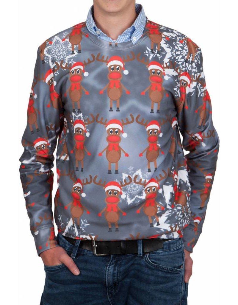 Rudy Land Weihnachtspullover Multi Grey