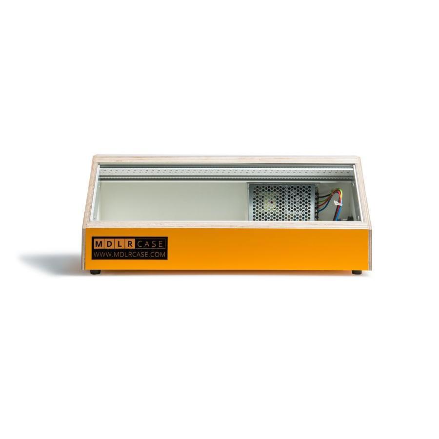 MDLR Case 3U 84/114HP powered eurorack case funky yellow
