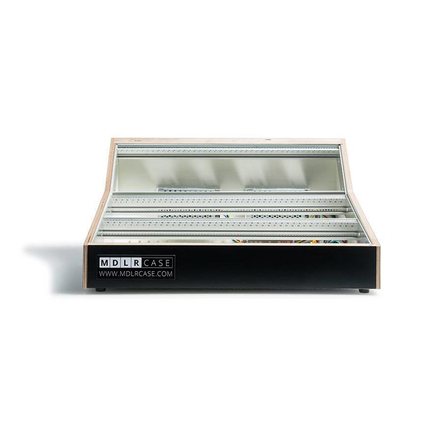 MDLR Case 9U 84/114 HP powered eurorack case classic black