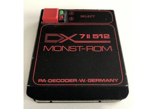 Yamaha DX7 II 512 MONST-ROM Synth Cartridge