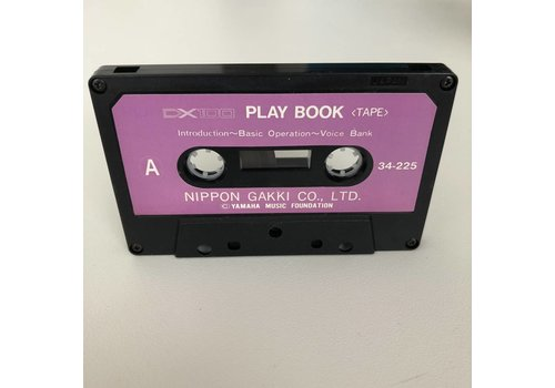 Yamaha DX100 Play Book Cassette Tape