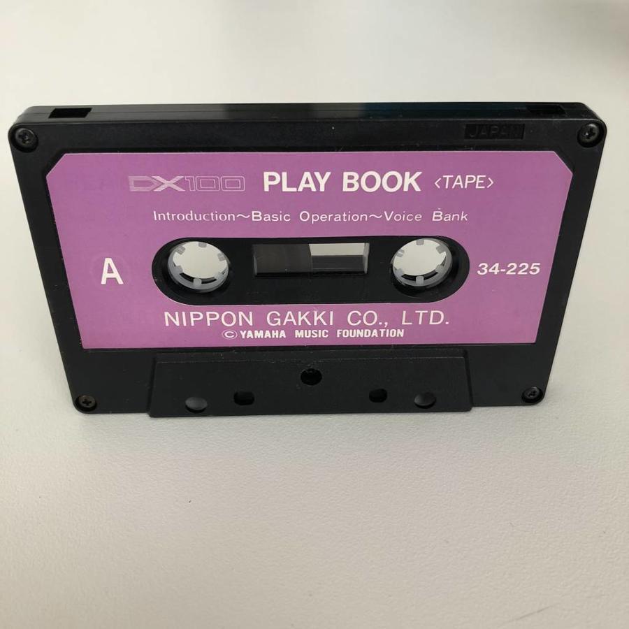 Yamaha DX100 Play Book Cassette Tape