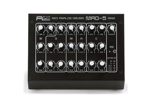 AVP Synth MAD-5 MKII MIDI Analog Drum Synthesizer