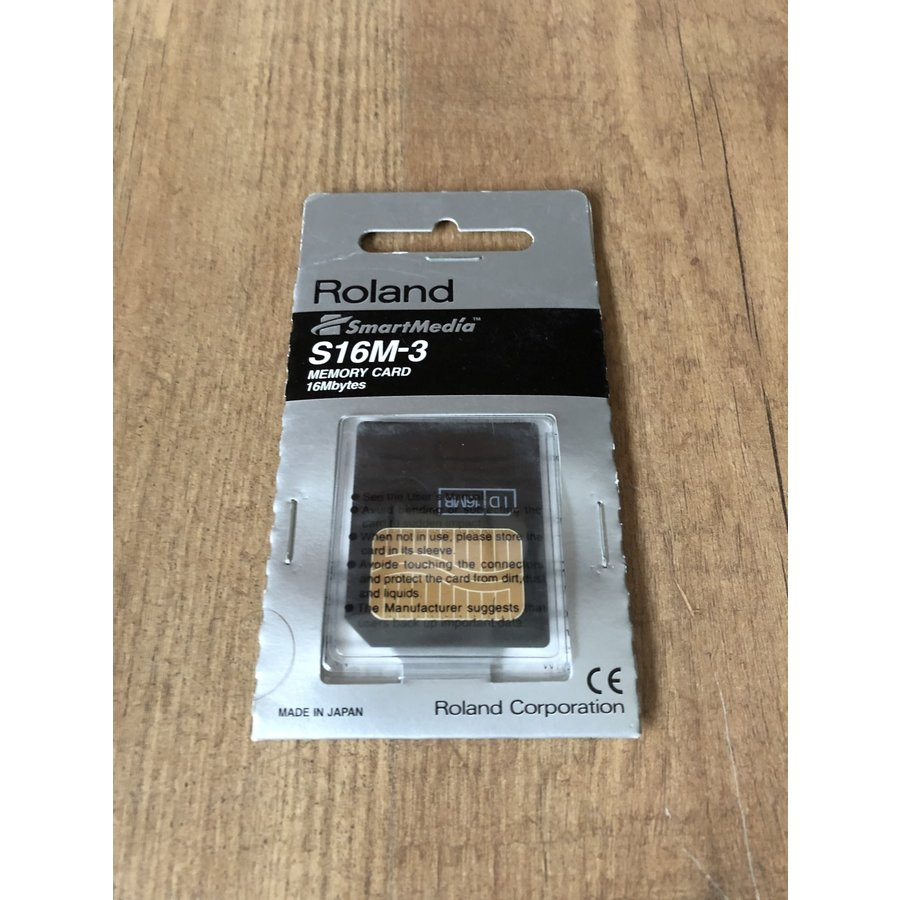 Roland S16M-3 Smart Media Card