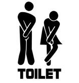 Muursticker toilet hoge nood