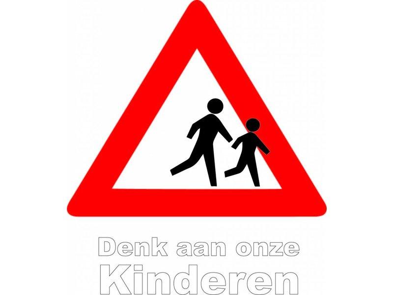 Denk aan onze spelende kinderen sticker