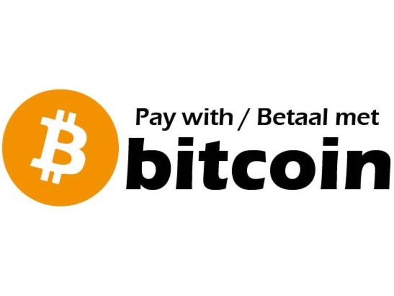 Betaal met bitcoin sticker (3x)