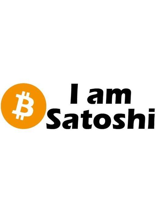 I am Satoshi sticker (3x)