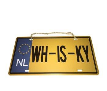 Metalen kentekenplaat WH-IS-KY