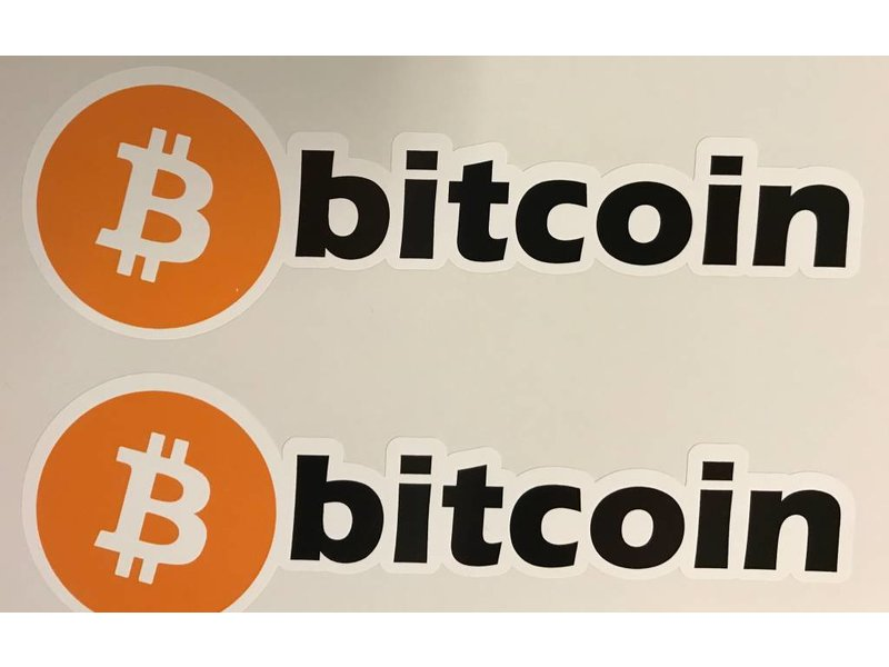 Bitcoin contour sticker (3x)