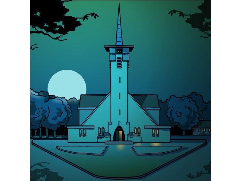 Klok Naaldkerk nacht Santpoort Eric J. Coolen