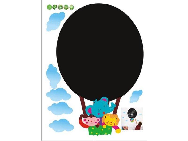 krijtbord muursticker luchtballon