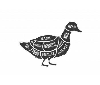 Sticker cuts of duck Slager eend