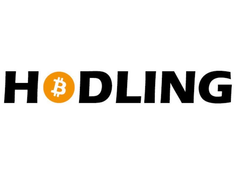 HODLING Bitcoin sticker