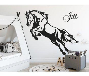 Muursticker steigerend paard