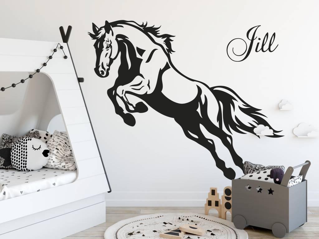 Paarden Sticker Muur.Muursticker Steigerend Paard Versierendoejezo Webwinkel Workshops