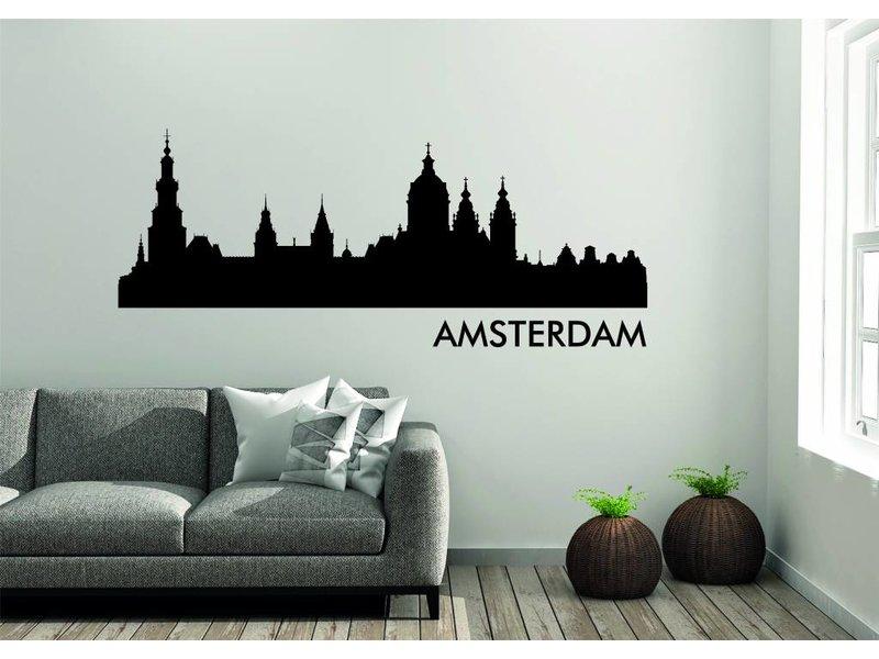 Amsterdam Skyline Muursticker