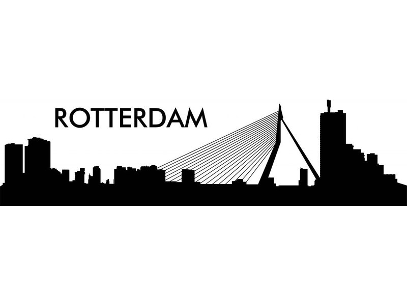 Rotterdam  Skyline Muursticker