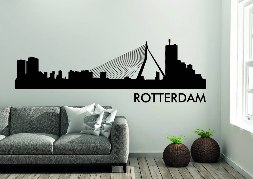 Muurstickers Winkel Rotterdam.Rotterdam Skyline Muursticker Versierendoejezo Webwinkel Workshops