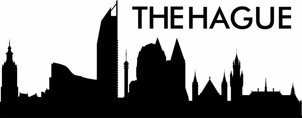 Muurstickers Den Haag.Den Haag Skyline Muursticker