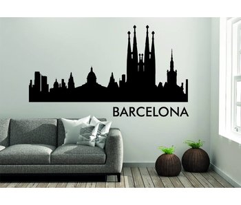 Barcelona  Skyline Muursticker