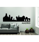 Madrid Skyline Muursticker