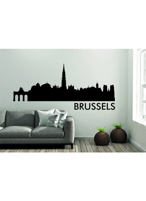Brussel Skyline Muursticker