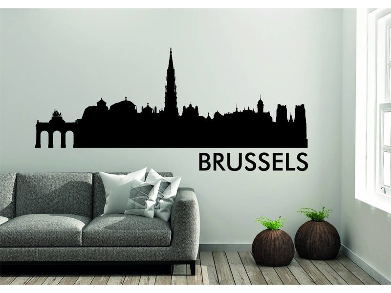 Brussel Skyline Muursticker