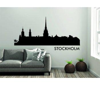 Stockholm Skyline Muursticker
